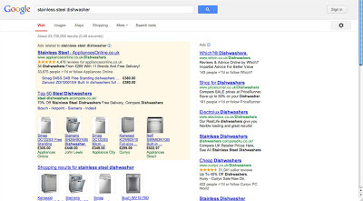 SERP above the fold