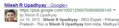 Google + Pofile