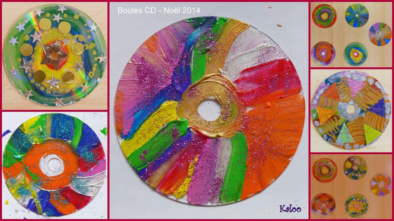 Boule CD de Noël en MS