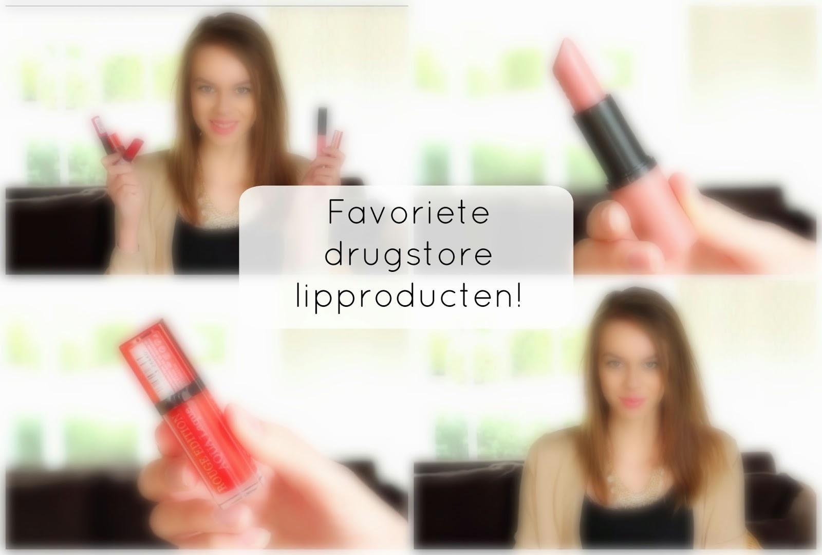 favoriete drugstore lipproducten