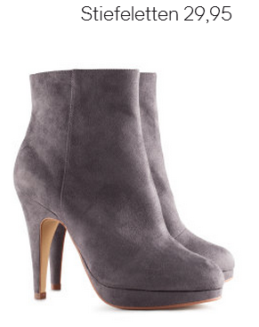 Grey Velour Boots H&M Fall 2012 Collection