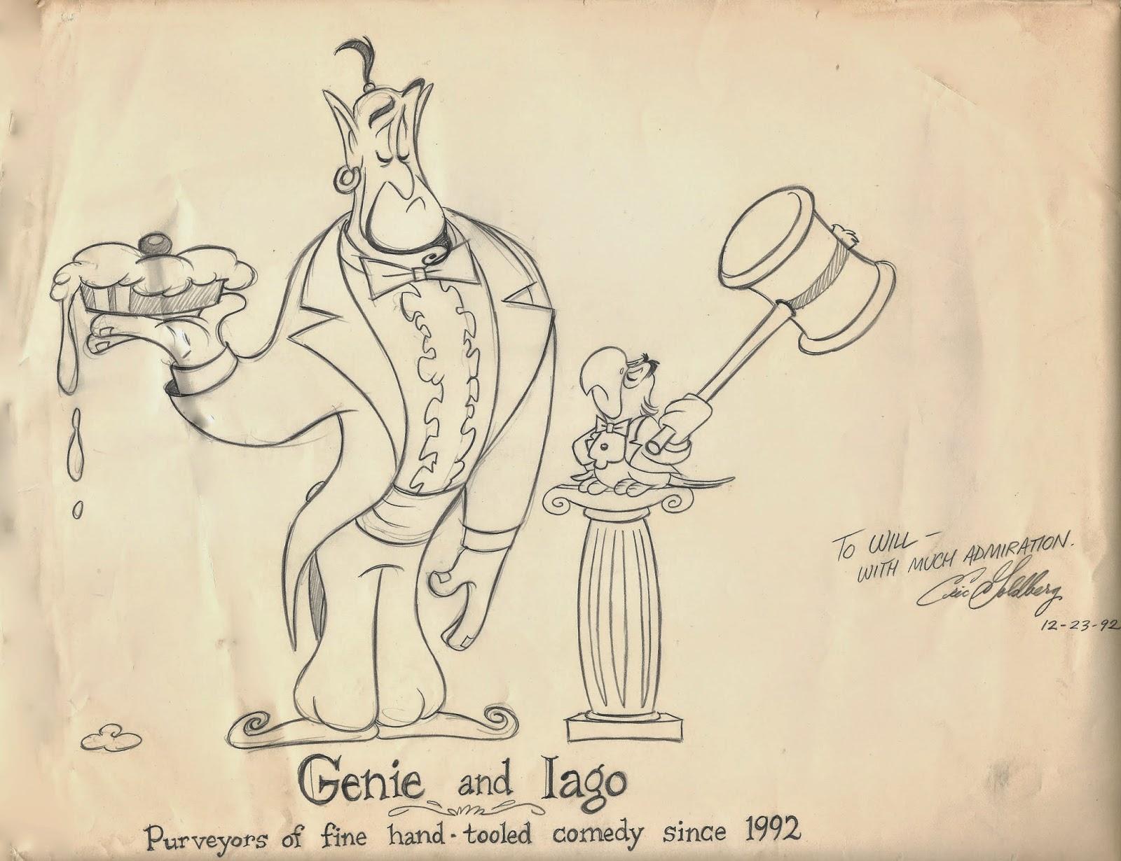 Genie and Iago by Will Finn
