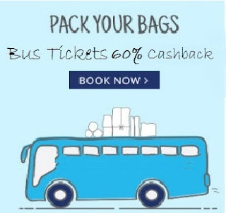 PayTm Bus Ticket Booking upto 60% Cashback