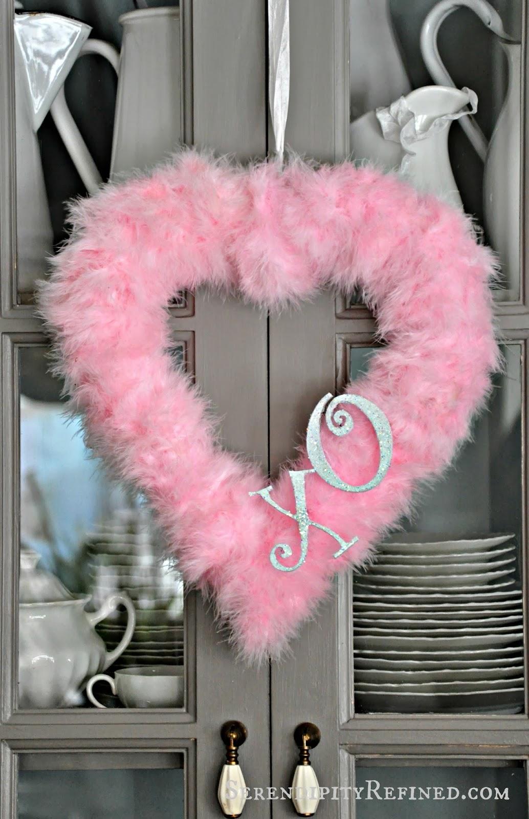 Valentine S Day Feather Heart Wreath A Craft Tutorial Fox