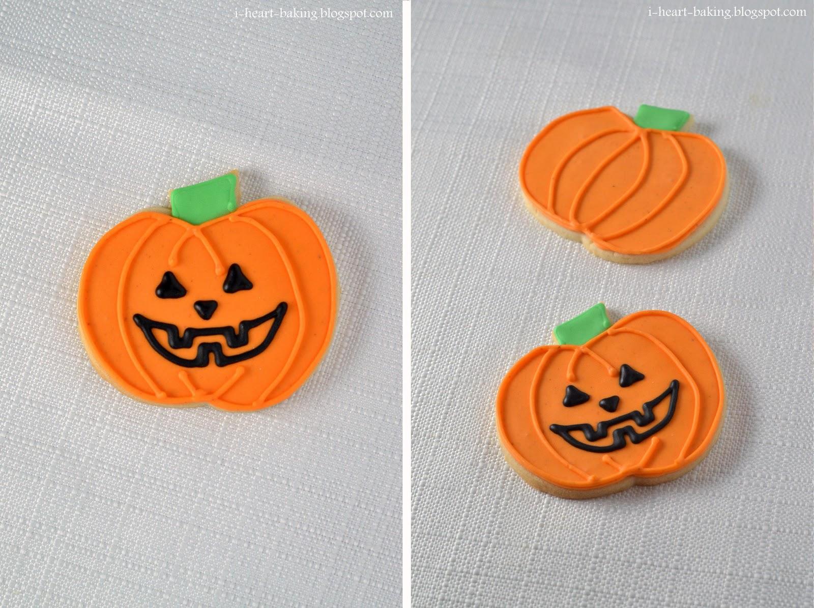 jack-o-lantern faces, I decided to make cookie replicas of the jack-o ...