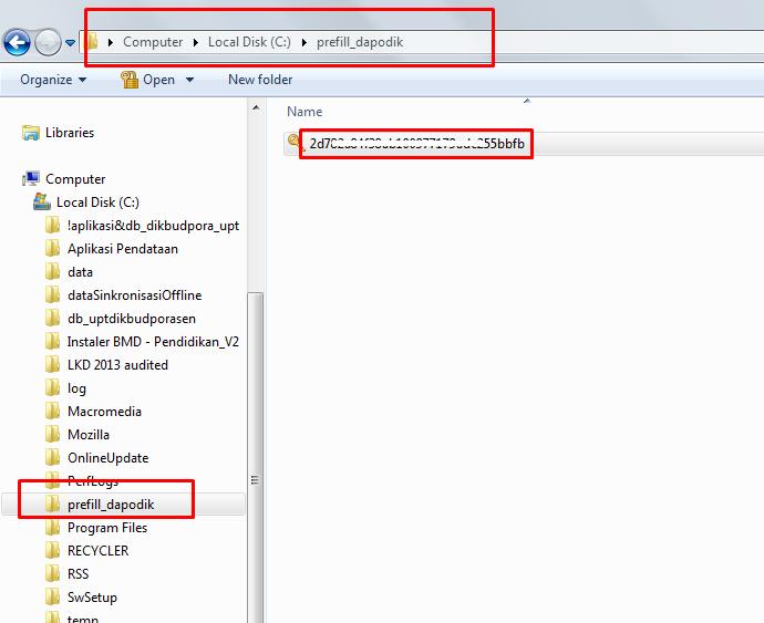 Karena aplikasi dapodikdas disimpan di server dimasukan ke rar ...