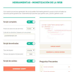 monetizar web shorte