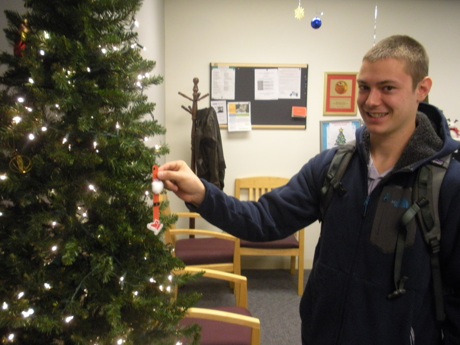 College hunter physical therapy - Chris Sorgani Class Of 2016 Is The First Pt Student To Put An Ornament On The Tree