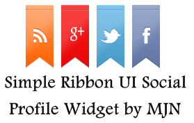 Simple and Stylish Ribbon UI Social Profile Widget v1 0 by MJN For Blogger