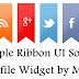 Simple and Stylish Ribbon UI Social Profile Widget v1.0 by MJN For Blogger..