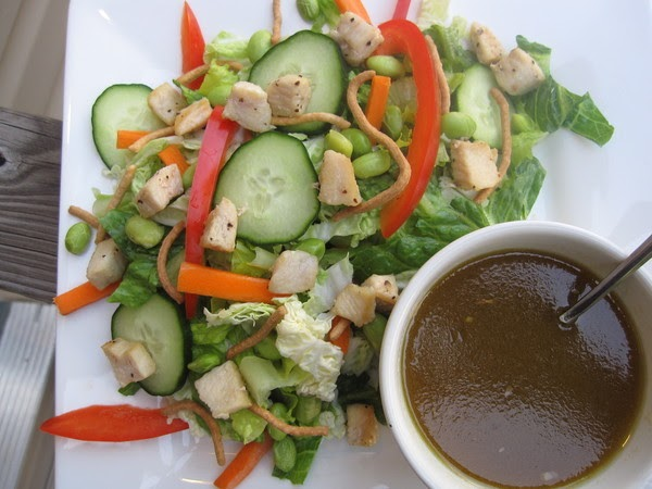 pb & kelly: asian chicken salad with ginger dressing