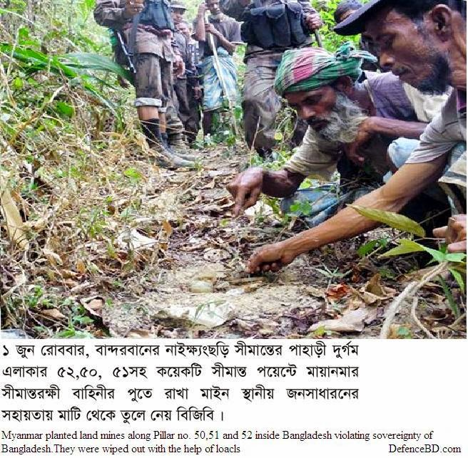 Myanmar planted land mines inside along the border inside Bangladesh