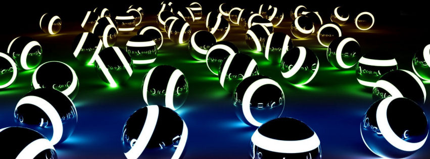 Stellar 3d spheres facebook cover