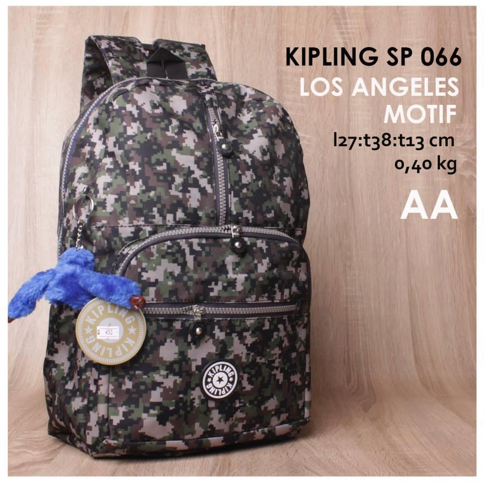 jual online tas ransel kipling kw motif murah di bandung ukuran standar