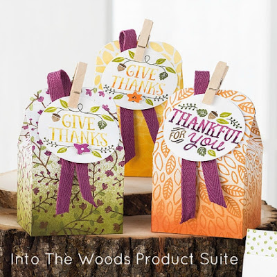 Projects created using Into The Woods Product Suite by Stampin' Up!