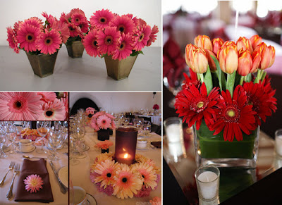 gerbera daisy centerpiece ideas