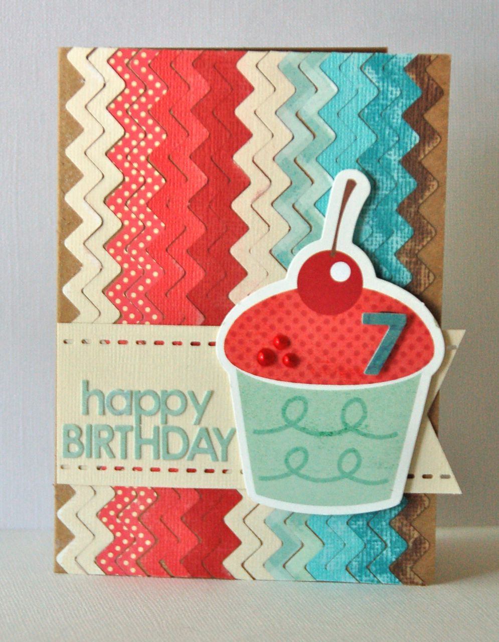Happy 7th Birthday card by Kimber McGray