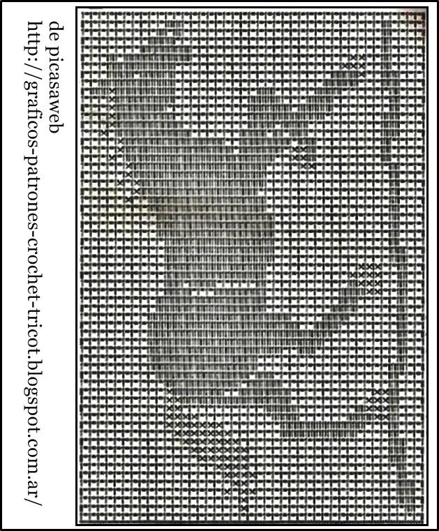 Patrones crochet ganchillo graficos tapete - Patrones tapetes ganchillo ...