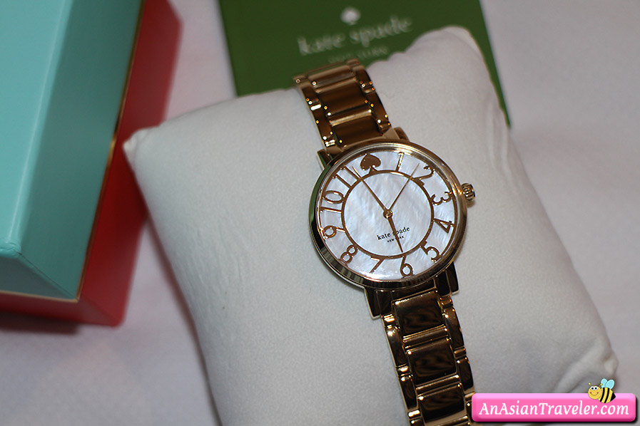 kate spade new york gramercy mother-of-pearl bracelet watch