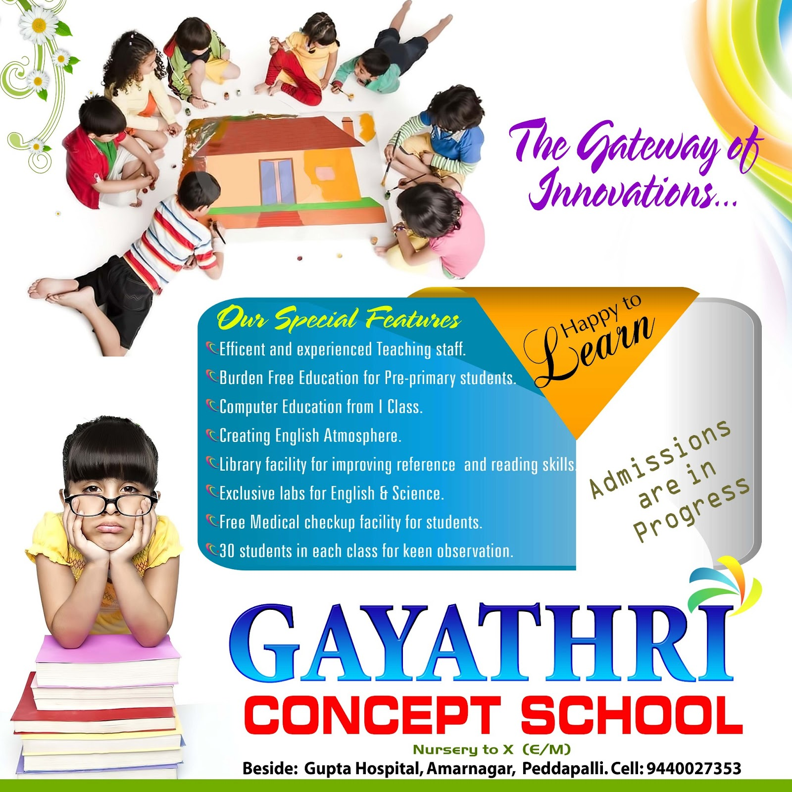 gayatri concept school banner designs  naveengfx