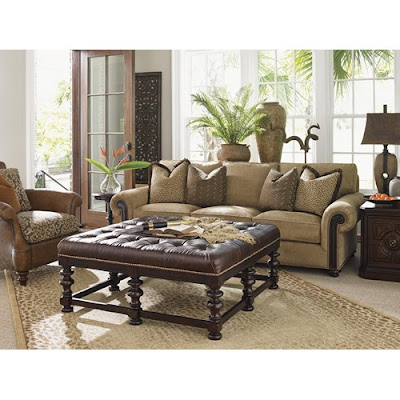 Animal Print Tommy Bahama Living Room Set