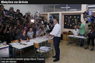 """Análise - """"Pragmatismo derrota a ilusão no curto espaço de 8 meses na Grecia"""" - 21/09/2015"""