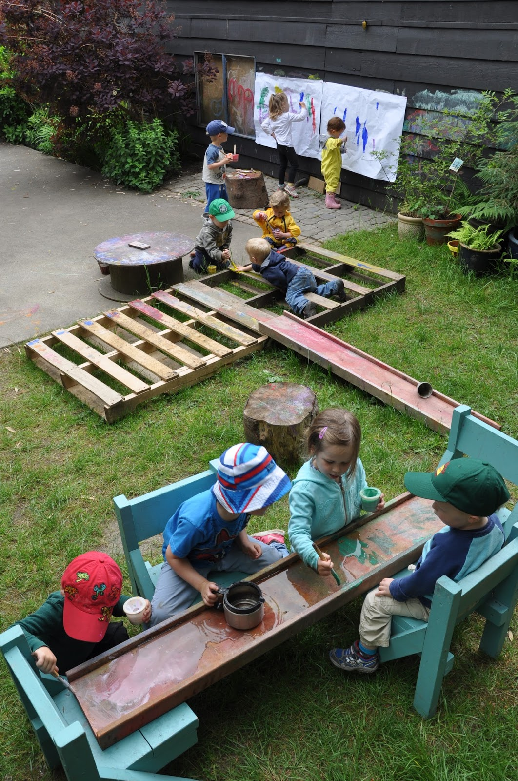 outside play for preschoolers stomping in the mud 2015 snapshots 205