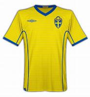 Euro 2012 Sweden Home Jersey