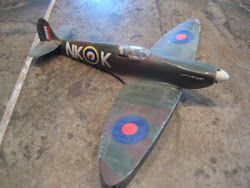 My first model I ever built...A British Spitfire.
