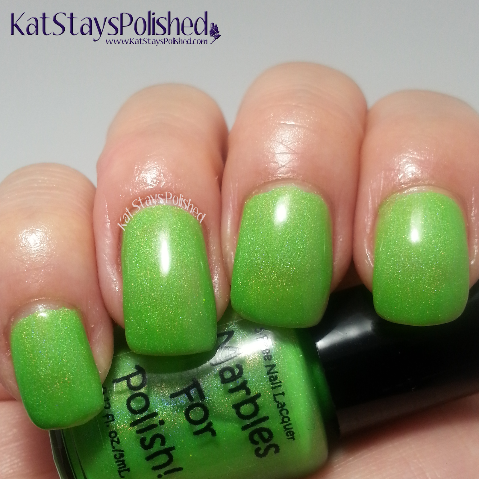 Marbles for Polish - Sweet Tooth Collection - Sour Apple Pop | Kat Stays Polished