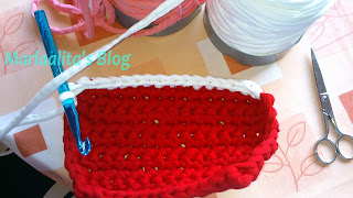 vacíabolsillos trapillo, cesta, rectangular, ganchillo XXL, crochet XXL