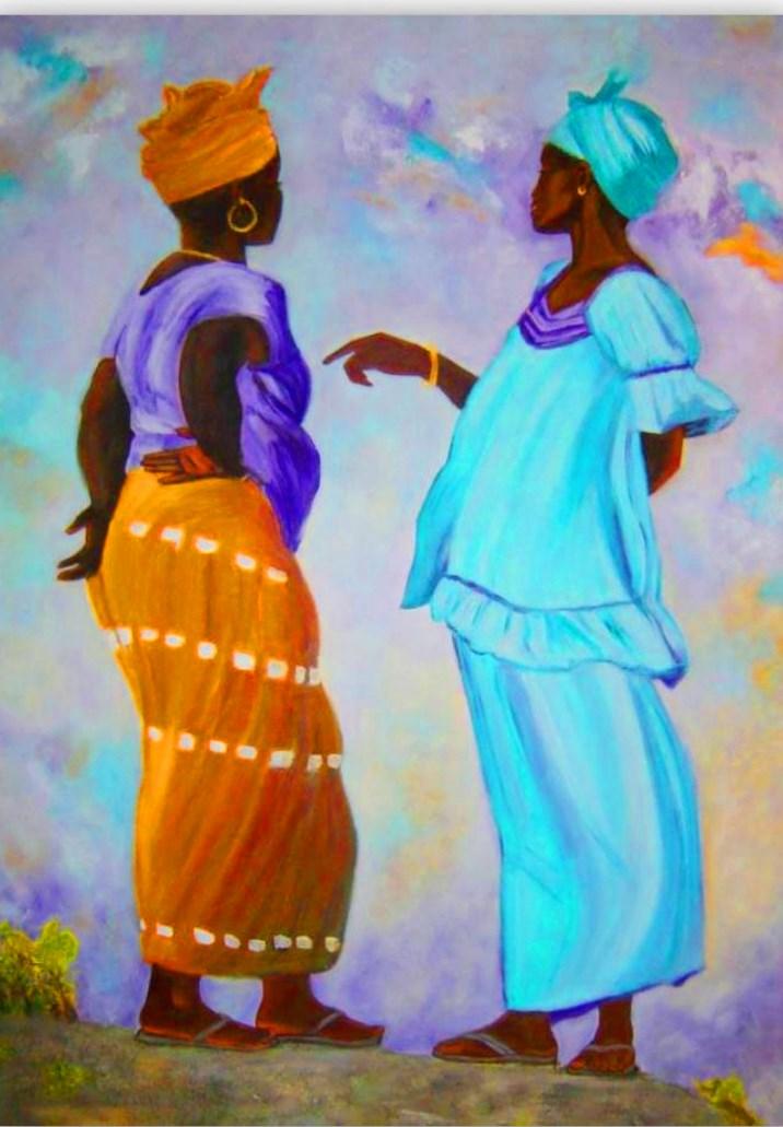 Pinturas cuadros lienzos negras africanas pintadas en - Cuadros para principiantes ...