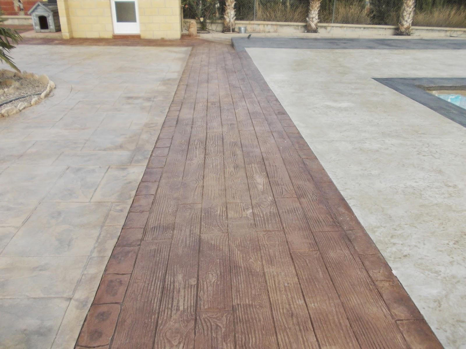 Pavimento continuo de hormig n impreso en murcia pavimentos continuos de hormig n hormig n impreso - Hormigon impreso madera ...