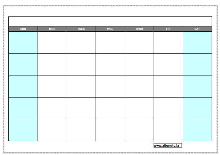 10 Blank calendar grid collection 2015 to print | 2015 Blank Calendar ...
