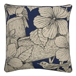 blue hibiscus tropical accent pillows