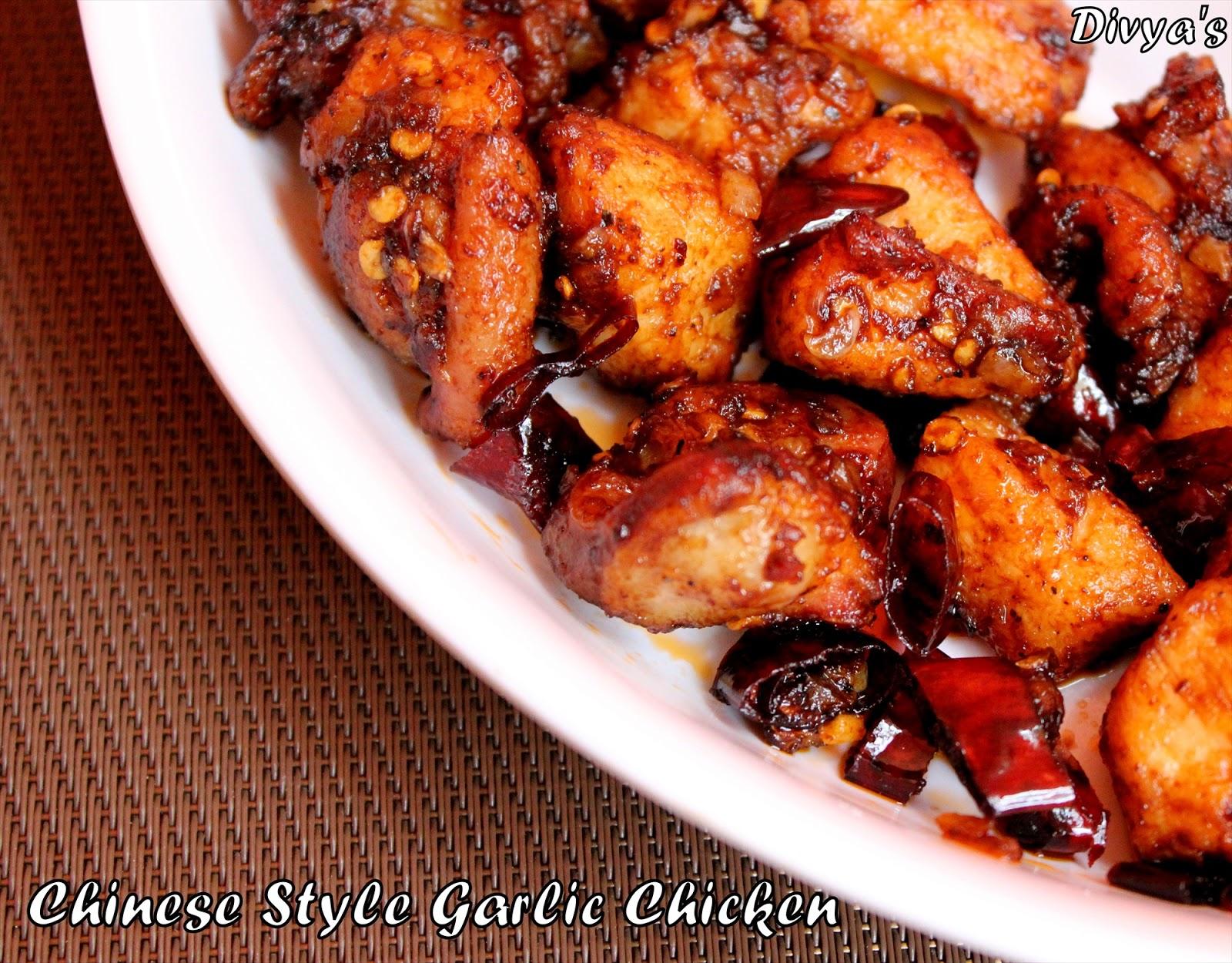 ... Priya: Garlic Chicken Recipe | Chinese Restaurant Style Garlic Chicken