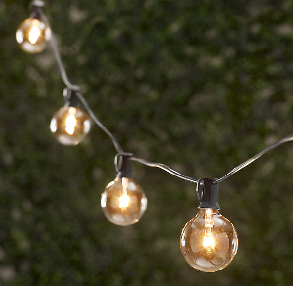 Backyard String Lights Lowes : Copy Cat Chic Restoration Hardware Party Globe Light String