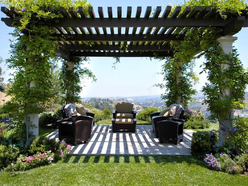 Dise o de pergolas para jardin patios y jardines - Ideas para pergolas ...