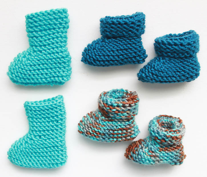 Baby Bootie Knit Pattern : Easy Newborn Baby Booties [knitting pattern] - Gina Michele