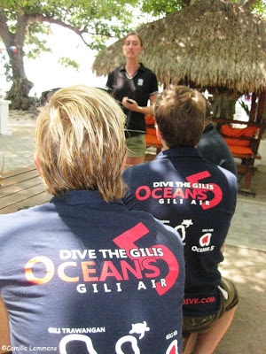 PADI IE on Gili Air in Indonesia at Oceans 5 with Emma Hewitt