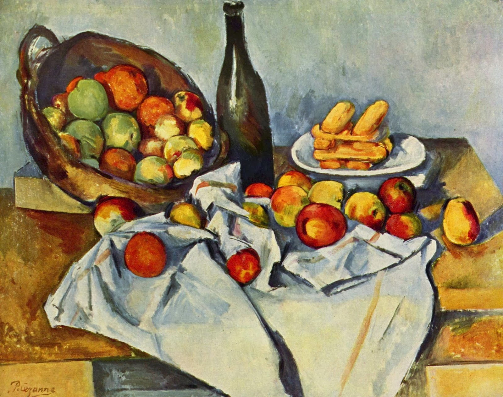 "Picture of ""The Basket of Apples"" by Paul Cezanne, 1893"