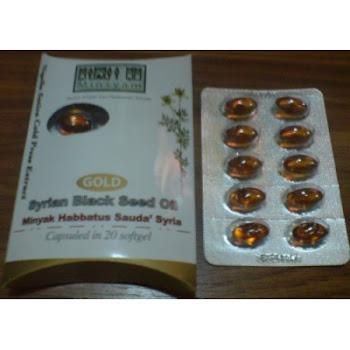 Minyak habbatus sauda emas (gold habbatus sauda).