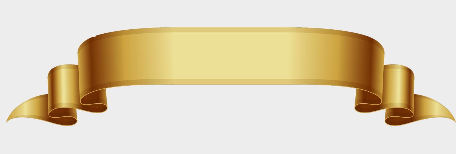 Image Gold Ribbon Banner Vector Download