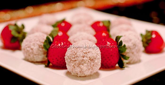 Strawberry Coconut Laddoo