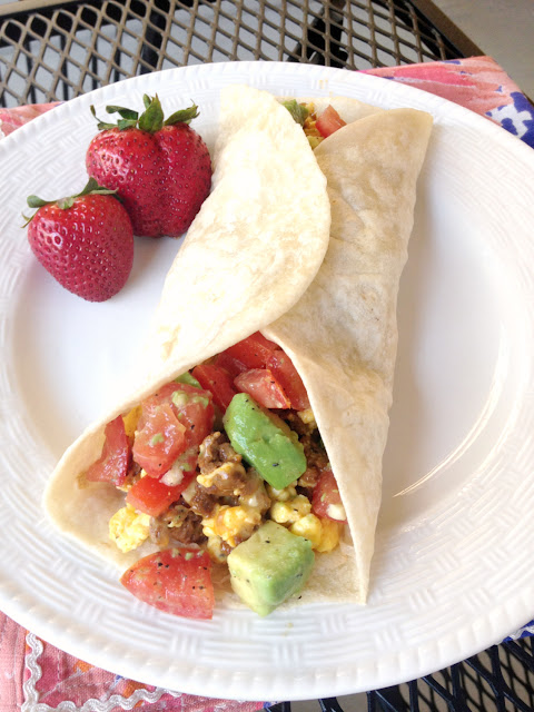 egg and sausage breakfast wrap recipe