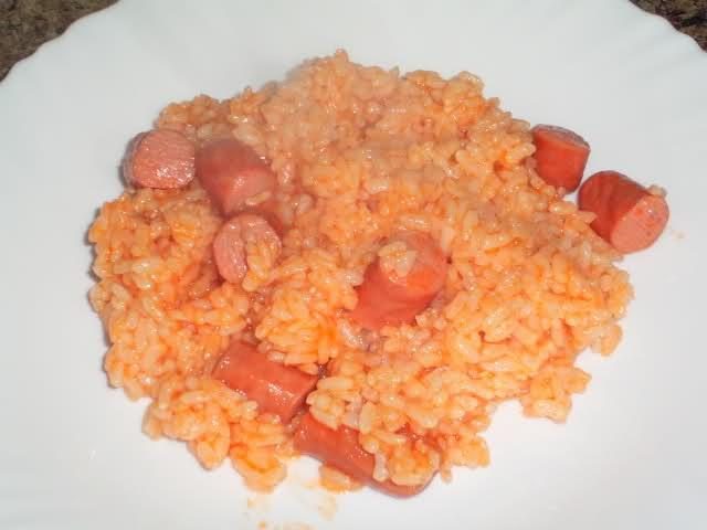 Cocina con xena arroz blanco con franfurt en gm d - Comidas con arroz blanco ...
