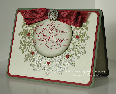Stampin' Up! Medallion Stamp Christmas Wreath