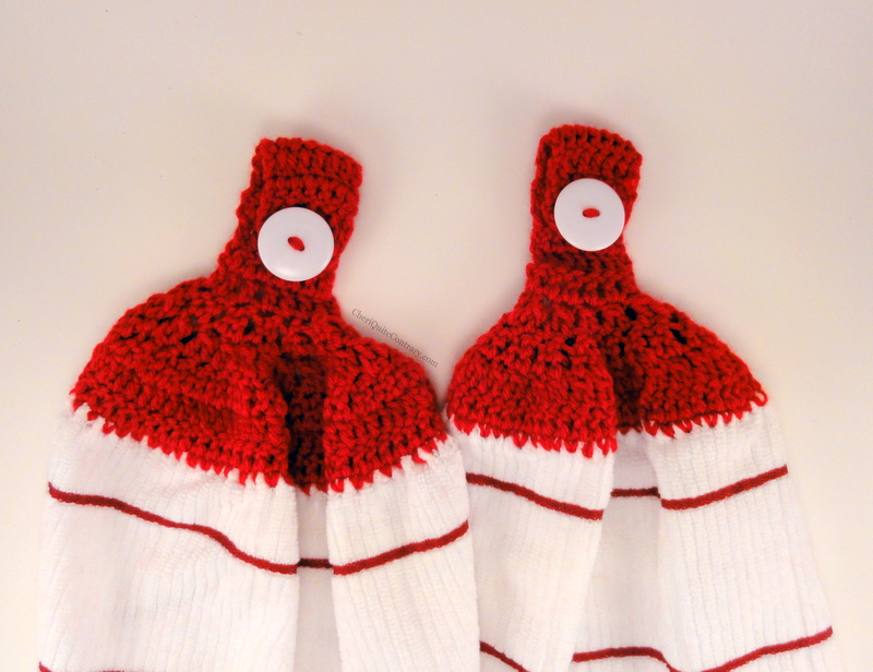 Cheri Quite Contrary Crocheted Towel Toppers