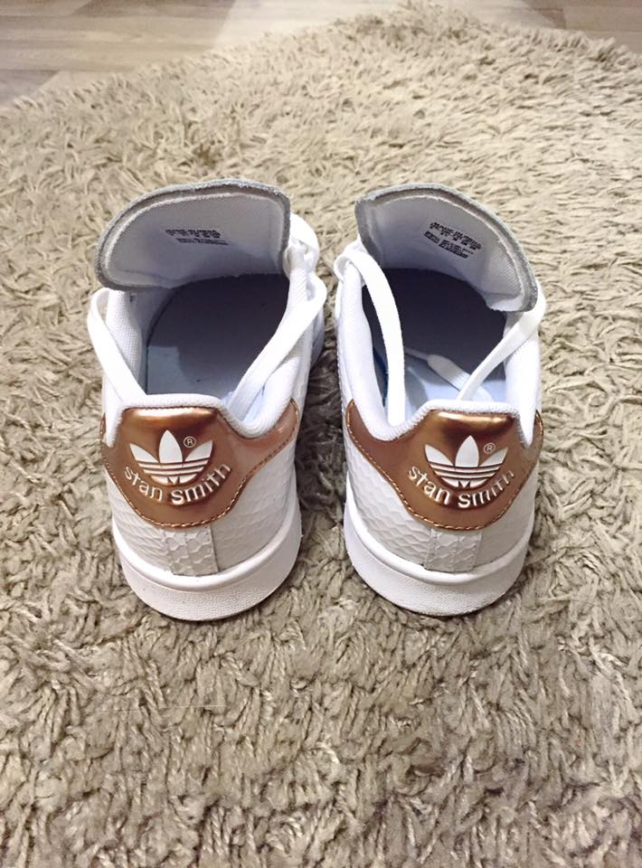 stan smith femme noir rose gold
