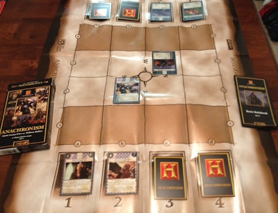 Anachronism History Channel card game in play